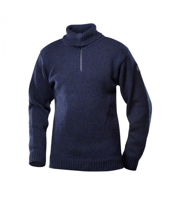Klasický teplý vlněný svetr se zipem Devold Nansen